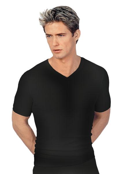 Heren hemd 1924 korte mouwen V-neck